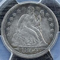 1854 O SEATED LIBERTY DIME, F-103, TOP10039, R5 PCGS EXTRA FINE 40 CAC, W/VARIETY LABEL