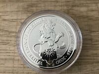 2020 QUEEN BEAST 2 OZ WHITE LION OF MORTIMER SILVER COIN CAPSULED