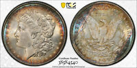 1887 PCGS MINT STATE 63 MORGAN SILVER DOLLAR - WITH TRUEVIEW AND  TONING