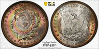 1883-O PCGS MINT STATE 63 MORGAN SILVER DOLLAR PCI TONED - GORGEOUS WITH TRUEVIEW