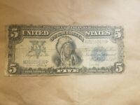 1899 $5 SILVER CERTIFICATE INDIAN CHIEF FR. 280 NON MULE NOTE BANKNOTE BILL