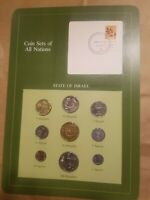 COIN SETS OF ALL NATIONS ISRAEL 9 COIN SET 1 AGOROT TO  100 SHEQALIM UNC MS NICE