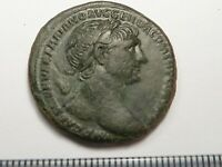 95ANCIENT ROMAN COPPER AS TRAJAN 1   2 CENTURY AD