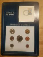 COIN SETS OF ALL NATIONS 1984 AUSTRALIA SET 1 TO $1 7 COINS 20 CENTS UNC 2C 1982