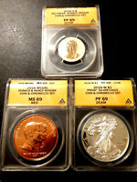 2016 RONALD REAGAN COIN & CHRONICLES SET - GRADED BY ANACS -  ALL HIGH GRADE