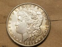1886 P MORGAN SILVER DOLLAR LIBERTY HEAD $1 COIN UNCIRCULATED UNC MS NICE
