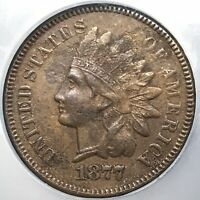 1877 INDIAN HEAD CENT - NGC / NCS EXTRA FINE  DETAILS - KEYDATE OF SERIES