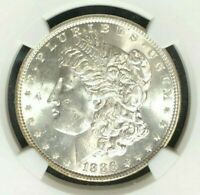 1886 VAM 1C NGC MINT STATE 63 MORGAN SILVER DOLLAR - GENE L.HENRY LEGACY COLLECTION035