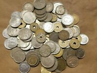 1 POUND OF COINS FROM SPAIN ONE LB SPANISH LOT PESETAS AND CENTIMOS NICE COINS