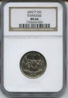 2002 P TENNESSEE NGC MS 66