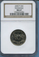 2002 P TENNESSEE NGC MS 67