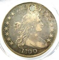 1800 DRAPED BUST SILVER DOLLAR $1 AMERICAI - PCGS VF DETAILS PLUGGED -