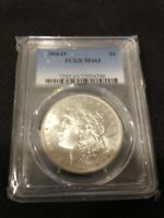 1904 O MORGAN DOLLAR PCGS MINT STATE 63 - UNCIRCULATED - WHITE LUSTER - CERTIFIED SLAB