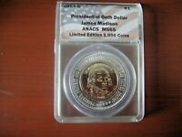 2007D $1 PRESIDENTIAL OATH DOLLARS ANACS MINT STATE 65 LIMITED EDITION JAMES MADISON