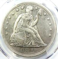 1860-O SEATED LIBERTY SILVER DOLLAR $1 - PCGS EXTRA FINE  DETAILS -  EARLY DATE COIN