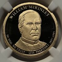 2013 S NGC PF70 ULTRA CAMEO  WILLIAM MCKINLEY 25TH PRESIDENT PROOF DOLLAR $1