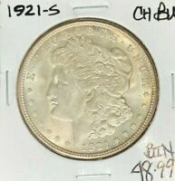 1921-S MORGAN SILVER DOLLAR  CH/BU BEAUTIFUL COIN