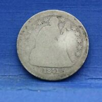 1841 O SEATED LIBERTY DIME SILVER ALMOST GOOD AG