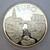 BULGARIA 10 LEVA 1999 SILVER COIN PROOF PLOVDIV OLD TOWN STR
