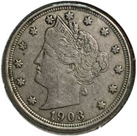 1903 LIBERTY HEAD V NICKEL 5 CENT US COIN SI93