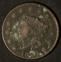 1820 CORONET MATRON HEAD LARGE CENT - SHIPS FREE USA