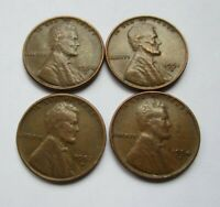 US 1 CENT LINCOLN 1950 D 1951 D 1952 D 1954 D WHEAT CENT COIN LOT