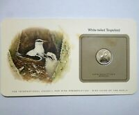 BIRD COINS OF THE WORLD BERMUDA 25 CENTS 1981 UNC WHITE TAIL