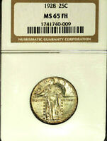 1928 25C MINT STATE 65FH NGC- STANDING LIBERTY QUARTER