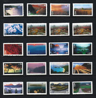 C133 C150   C138A & C138B SCENIC AMERICAN LANDSCAPES COMPLETE SET OF 20 MNH