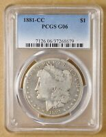 1881 CC MORGAN SILVER DOLLAR PCGS GOOD 6