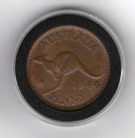 1946 AUSTRALIAN PENNY VERY RARE COIN IN VF  CONDITION GREAT
