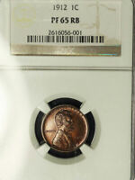 1912 1C PR65RB NGC-LINCOLN WHEAT CENT
