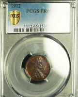 1912 1C PR65BN PCGS-ONLY 37 FINER-LINCOLN WHEAT CENT