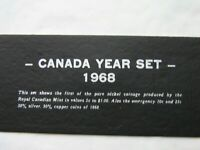 1968 CANADIAN COIN SET   8 COINS