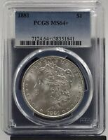 1881 MORGAN SILVER DOLLAR PCGS MINT STATE 64 38351841