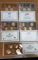 2008 2009 2010 2011 2012 PRESIDENTIAL PROOF SETS WITH COA