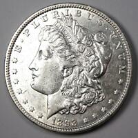 1893 MORGAN SILVER DOLLAR $1 - CHOICE AU DETAILS -  DATE COIN