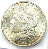 1894-S MORGAN SILVER DOLLAR $1 COIN - CERTIFIED ICG MINT STATE 60 DETAILS BU UNC