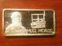 SAMUEL MORSE 1 OUNCE SILVER ART BAR 1 OZ .999 FINE HAMILTON MINT