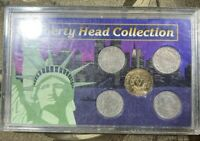 LIBERTY HEAD NICKEL COLLECTION COINS IN CASE 1902 1906 1908 1911 1912