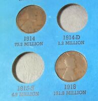 1914 1916 WHEAT LINCOLN PENNIES - - SEE PHOTO