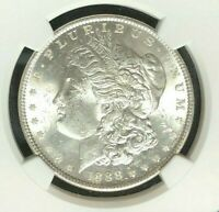 1888 VAM 18 NGC MINT STATE 62 MORGAN SILVER DOLLAR-GENE L HENRY LEGACY COLLECTION REF064