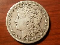 1890 S MORGAN SILVER DOLLAR LIBERTY HEAD $1 AMERICAN EAGLE NICE COIN
