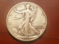 1942 D WALKING LIBERTY HALF DOLLAR SILVER COIN 50 CENTS WALKER 50C WWII RELIC