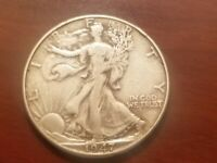 1947 D WALKING LIBERTY HALF DOLLAR SILVER COIN 50 CENTS WALKER EXTRA FINE EF XF