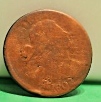 1807 OVER 06 US LARGE 1C AUTHENTIC BUT LOW GRADE CLEANED