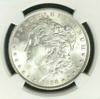 1888 VAM 12A NGC MINT STATE 61 MORGAN SILVER DOLLAR-GENE L HENRY LEGACY COLLECTION