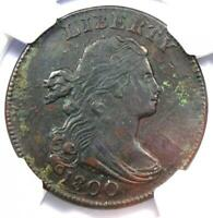 1800 DRAPED BUST LARGE CENT 1C S-211 - NGC AU DETAILS -  COIN IN AU