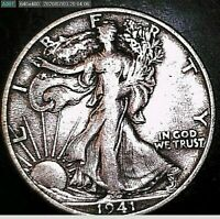 1941 S WALKING LIBERTY HALF-DOLLARS
