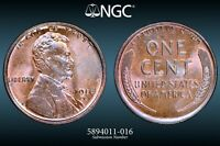 NGC MS 65 RB 1916 D LINCOLN CENT BEAUTIFUL RED BROWN SPECIME